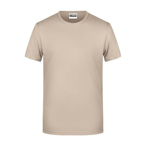 Men's Basic-T - Herren T-Shirt in klassischer Form (braun / grau) (Art.-Nr. CA937172)