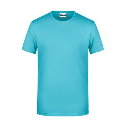 Men's Basic-T - Herren T-Shirt in klassischer Form (blau) (Art.-Nr. CA951391)