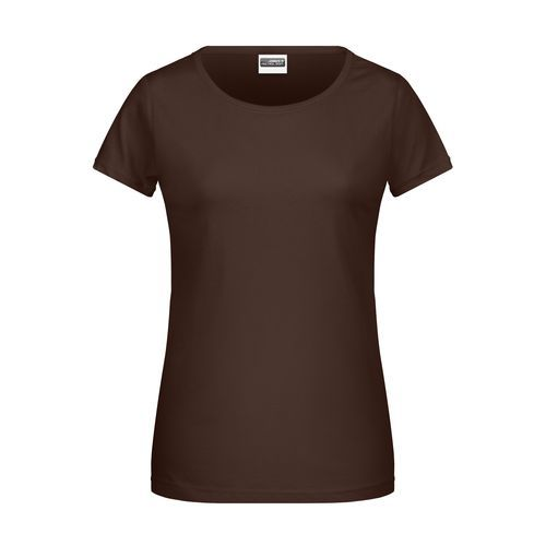 Ladies' Basic-T - Damen T-Shirt in klassischer Form (braun) (Art.-Nr. CA961762)