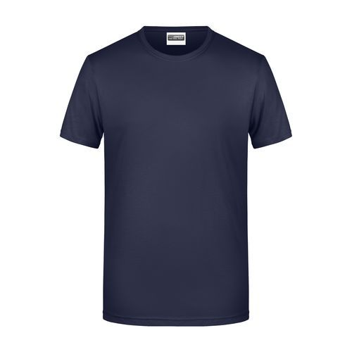 Men's Basic-T - Herren T-Shirt in klassischer Form (blau) (Art.-Nr. CA964269)