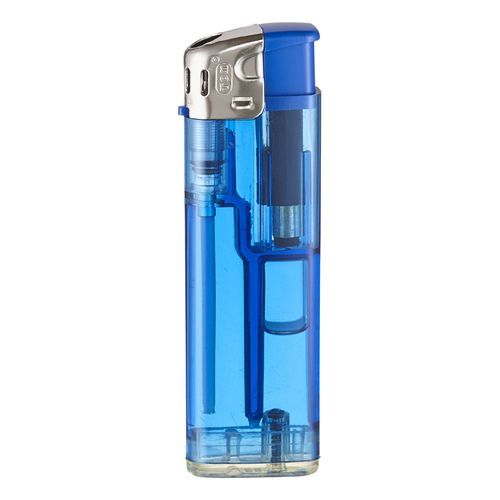 TOM® QM-506 13 Elektronik-Feuerzeug (transparent blau) (Art.-Nr. CA214248)