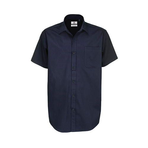Twill Shirt Sharp Short Sleeve / Men [XXL (45/46)] (navy) (Art.-Nr. CA000040)
