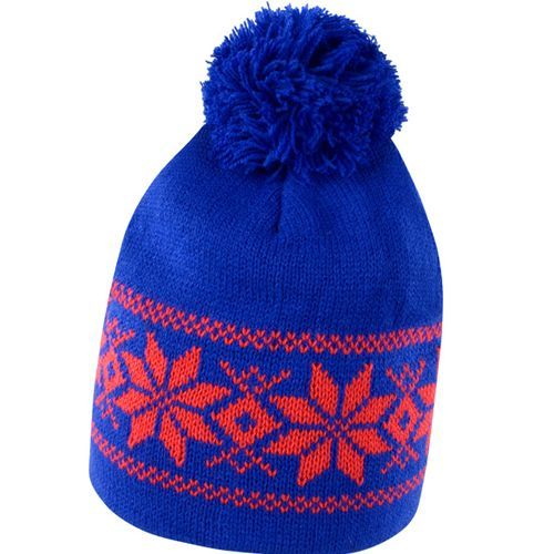 Fair Isle Knitted Hat [One Size] (Royal / red) (Art.-Nr. CA000493)