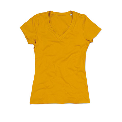 Janet Organic V-Neck for women [XL] (Indian Yellow) (Art.-Nr. CA000672)