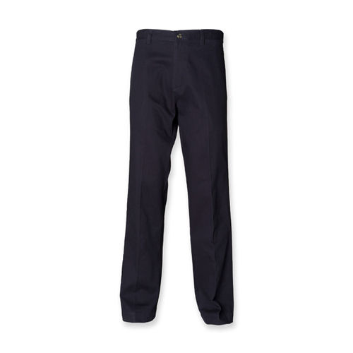 Men`s Teflon Coated Flat Front Chino [40/32] (Navy) (Art.-Nr. CA000704)