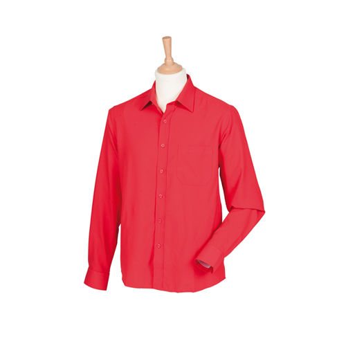 Men`s Wicking Long Sleeve Shirt [L] (Classic Red) (Art.-Nr. CA001235)