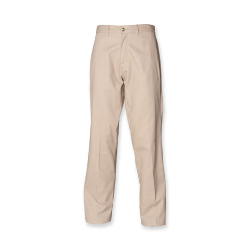 Men`s Teflon Coated Flat Front Chino [30/32] (Stone) (Art.-Nr. CA001260)