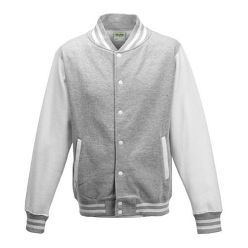 Kids` Varsity Jacket [12/13 (XL)] (Heather Grey) (Art.-Nr. CA001602)