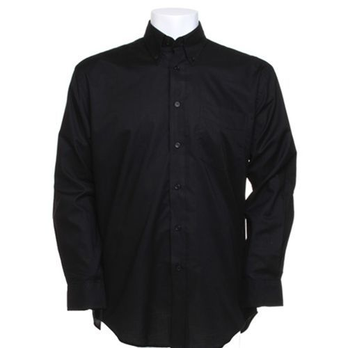 Men`s Classic Fit Workwear Oxford Shirt Long Sleeve [43 (17)] (Black) (Art.-Nr. CA001734)