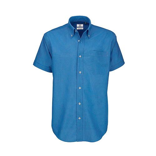 Shirt Oxford Short Sleeve /Men [S (37/38)] (blue Chip) (Art.-Nr. CA002233)