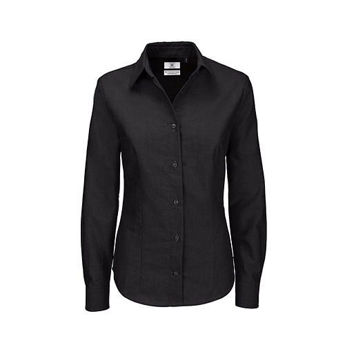 Oxford Shirt Long Sleeve / Women [L (40)] (black) (Art.-Nr. CA002282)