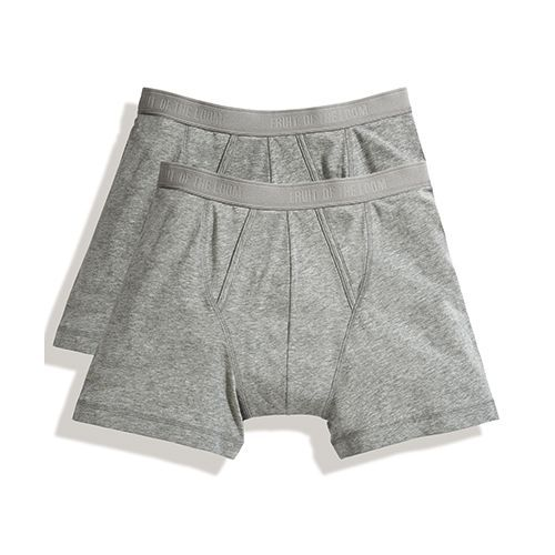 Classic Boxer (2 Pair Pack) [L] (Light Grey Marl) (Art.-Nr. CA002389)