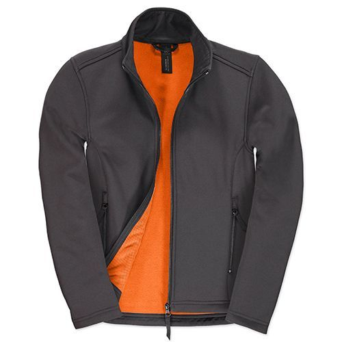 Jacket Softshell ID.701 /Women [XXL] (dark grey (Solid) / neon orange) (Art.-Nr. CA002493)