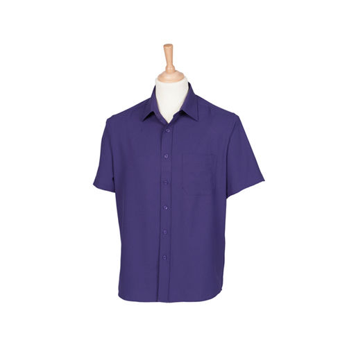 Men`s Wicking Short Sleeve Shirt [S] (Purple) (Art.-Nr. CA002519)