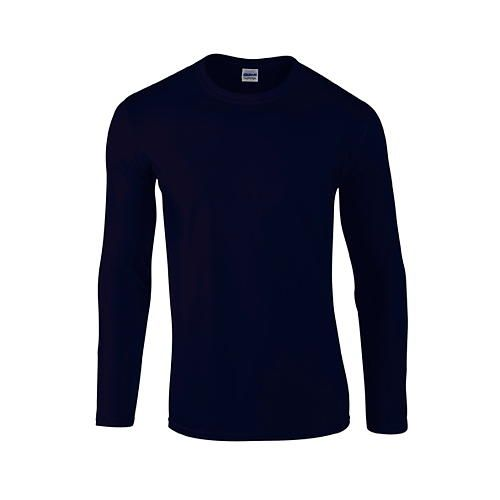 Softstyle® Long Sleeve T-Shirt [S] (Navy) (Art.-Nr. CA002654)
