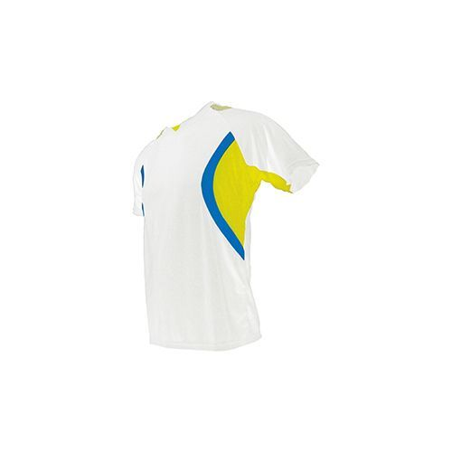 Mens Electro Shirt [XXL] (white / Yellow Fluor / Royal Fluor) (Art.-Nr. CA002876)