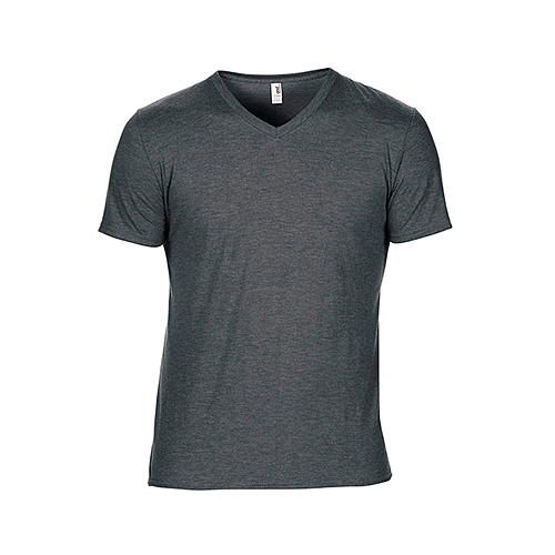 Tri-Blend V-Neck Tee [XL] (heather dark grey) (Art.-Nr. CA003001)