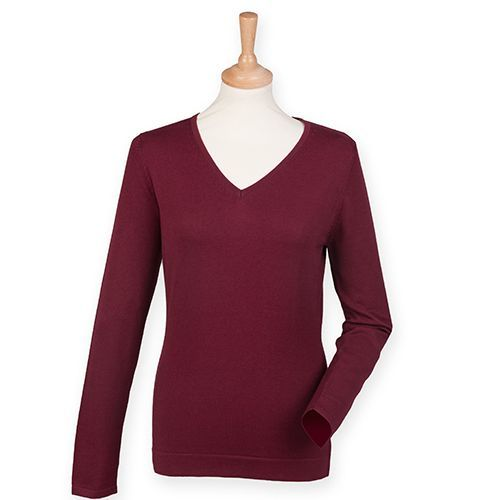 Ladies` Lightweight V Neck Jumper [XXL] (Burgundy) (Art.-Nr. CA003324)