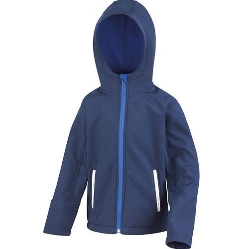 Junior Hooded Soft Shell Jacket [M (7-8)] (Navy) (Art.-Nr. CA003827)