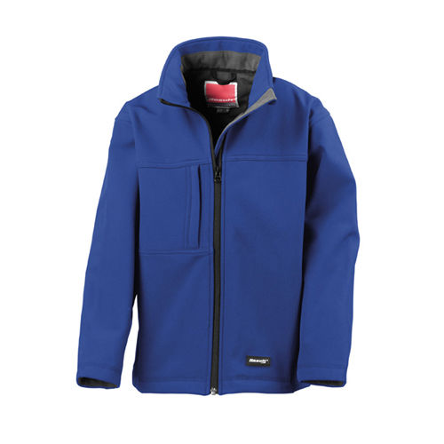 Junior Classic Soft Shell Jacket [M (7-8)] (Royal) (Art.-Nr. CA003858)