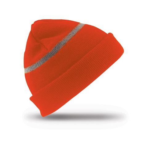 Junior Thinsulate™ Woolly Ski Hat with Reflective Band [One Size] (Fluorescent Orange) (Art.-Nr. CA005419)