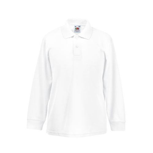 Kids Long Sleeve 65/35 Polo [152] (White) (Art.-Nr. CA007053)