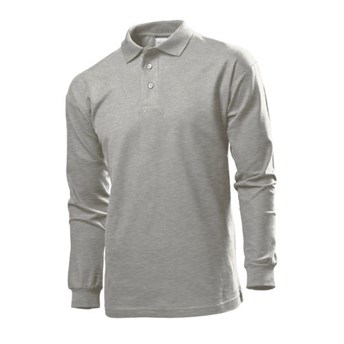 Long Sleeve Polo [M] (grey heather) (Art.-Nr. CA007365)