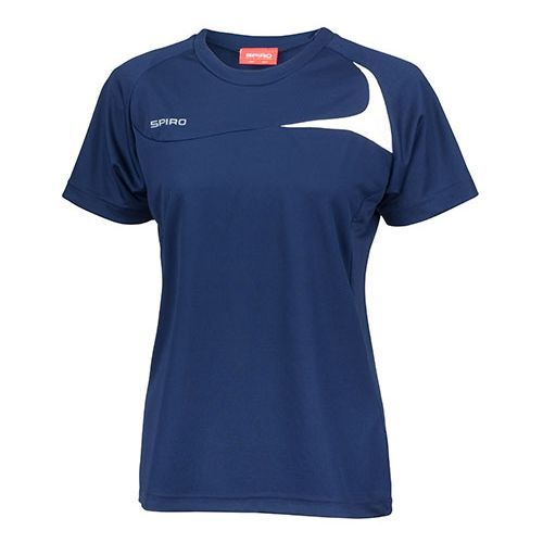 Ladies Dash Training Shirt [M (38)] (navy / white) (Art.-Nr. CA007417)