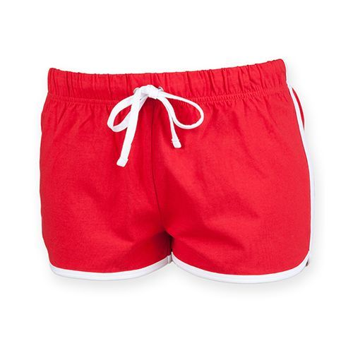 Ladies Retro Shorts [XL] (red / white) (Art.-Nr. CA007537)