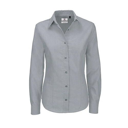 Oxford Shirt Long Sleeve / Women [S (36)] (silver Moon (heather)) (Art.-Nr. CA007666)