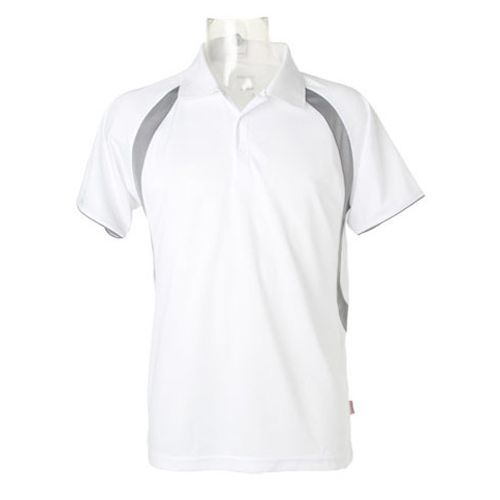 Riviera Polo Shirt [L] (white / grey) (Art.-Nr. CA007799)