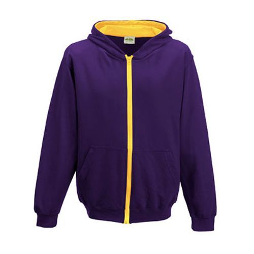 Kids Varsity Zoodie [9/11 (L)] (Purple / Sun Yellow) (Art.-Nr. CA008290)