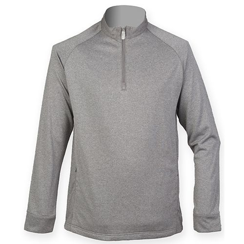 ¼ Zip Top with Wicking Finish [XXL] (Grey Marl) (Art.-Nr. CA008516)