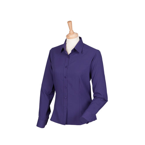 Ladies` Wicking Long Sleeve Shirt [S] (Purple) (Art.-Nr. CA009454)