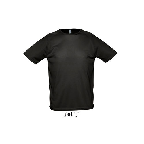 Mens Raglan Sleeves T Sporty [L] (black) (Art.-Nr. CA010098)