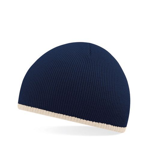 Two-Tone Pull-On Beanie [One Size] (french navy / Stone) (Art.-Nr. CA012315)