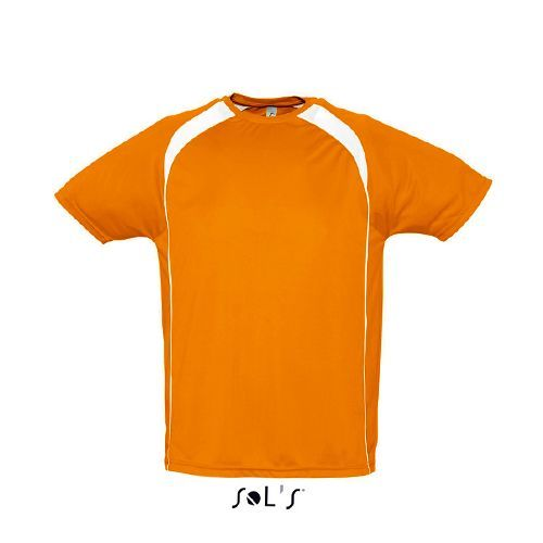 Mens T-Shirt Match [S] (orange / white) (Art.-Nr. CA015313)