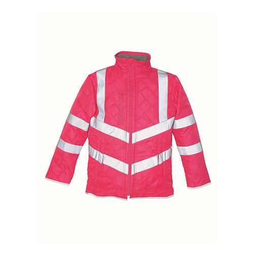 YOKO Hi Vis Kensington Jacket (with Fleece Lining) [M] (Art.-Nr. CA016698) - Eine schicke Jacke in Warnfarbe, die...