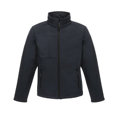 Mens Softshell Jacket - Octagon II [L] (navy / Seal grey (Solid)) (Art.-Nr. CA018039)