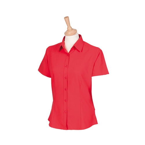 Ladies` Wicking Short Sleeve Shirt [3XL] (Classic Red) (Art.-Nr. CA019399)