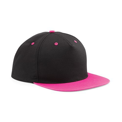 5 Panel Contrast Snapback [One Size] (black / Fuchsia) (Art.-Nr. CA021265)