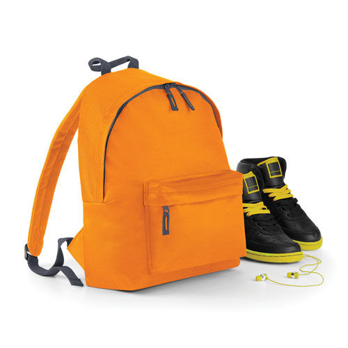 Junior Fashion Backpack [28 x 38 x 19 cm] (orange / graphite grey) (Art.-Nr. CA021649)