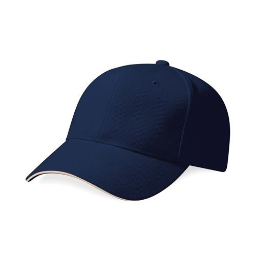 Pro-Style Heavy Brushed Cotton Cap [One Size] (french navy / Stone) (Art.-Nr. CA022046)