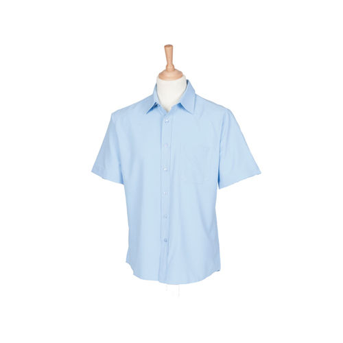 Men`s Wicking Short Sleeve Shirt [XL] (Light Blue) (Art.-Nr. CA022795)