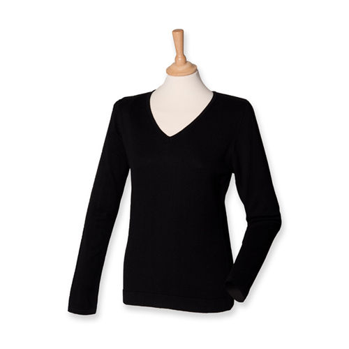 Ladies` Lightweight V Neck Jumper [4XL] (Black) (Art.-Nr. CA024891)
