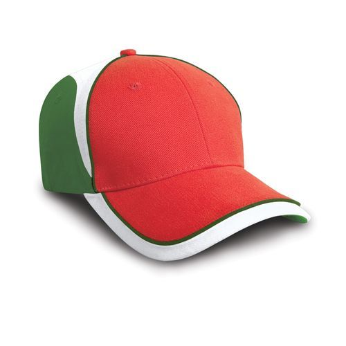 National Cap [One Size] (Italy red / green / white) (Art.-Nr. CA026083)