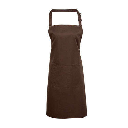 Colours Bib Apron With Pocket [72 x 86 cm] (Brown (ca. Pantone 476)) (Art.-Nr. CA026959)