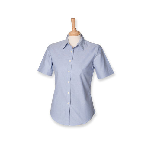 Ladies` Classic Short Sleeved Oxford Shirt [3XL] (Blue Oxford) (Art.-Nr. CA027794)