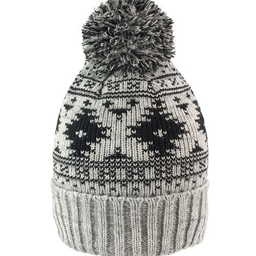 Deluxe Fair Isle Hat [One Size] (Grey/Black) (Art.-Nr. CA031868)