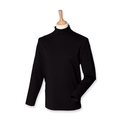 Roll-Neck Long-Sleeve T-Shirt [XXL] (Black) (Art.-Nr. CA032015)